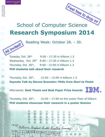 Invitation to the Annual School of Computer Science Research